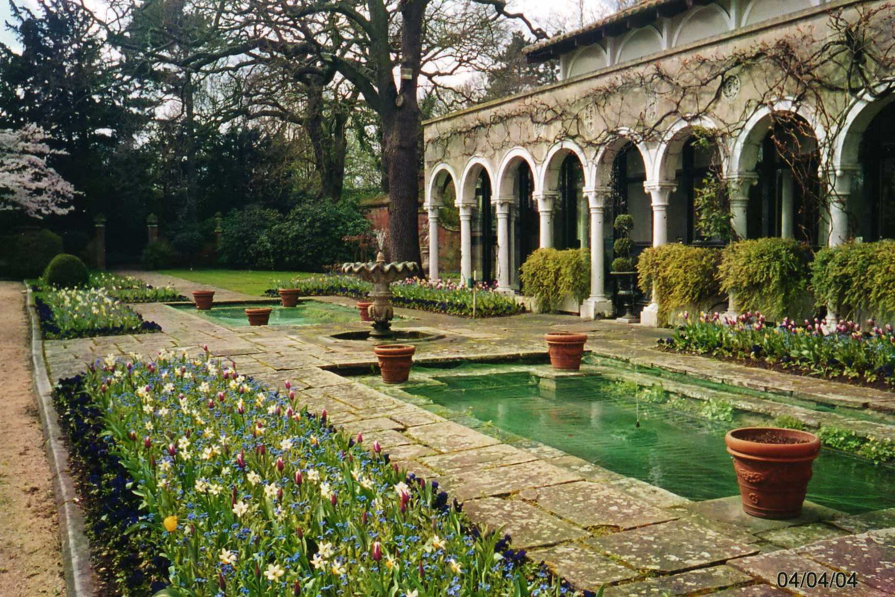 A garden in the Italian style at Warren House, Surrey
