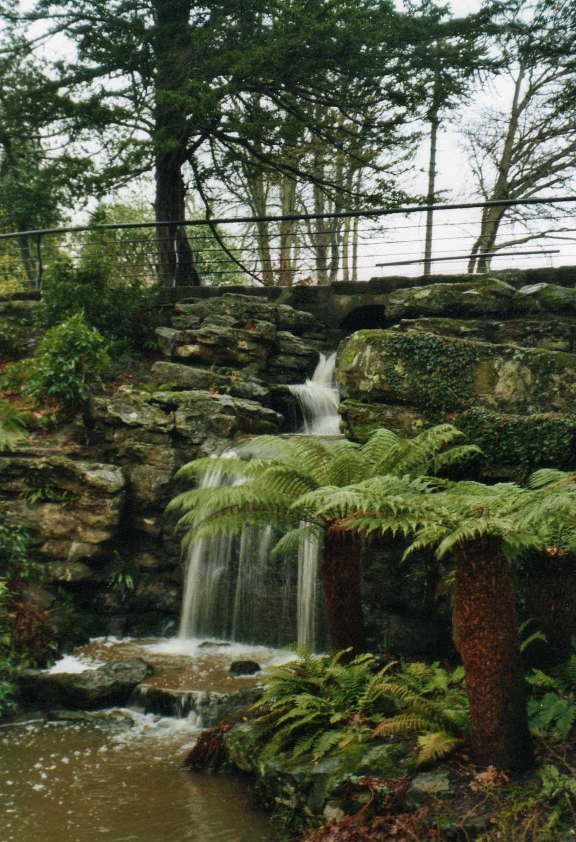 The rockery and waterfall at Dunorlan Park, Tunbridge Wells