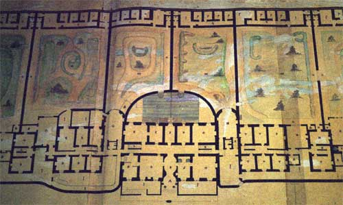 Plan of Brislington House and grounds, 1843, showing the airing courts. Image courtesy of Somerset Record Office.