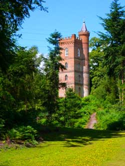 Photograph of the Gothic Tower, Painshill Park by Fred Holmes, June 2006. Copyright: Fred Holmes.