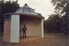 Photograph of the brick shell of the Turkish Tent during restoration, by Susan Gordon. Copyright Susan Gordon.