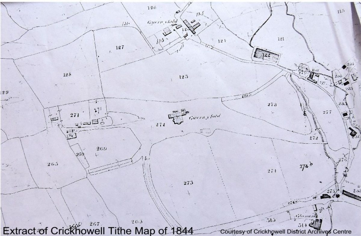 Pgds 20140811 203132 Extract Of Crickhowell Tithe Map Of 1844