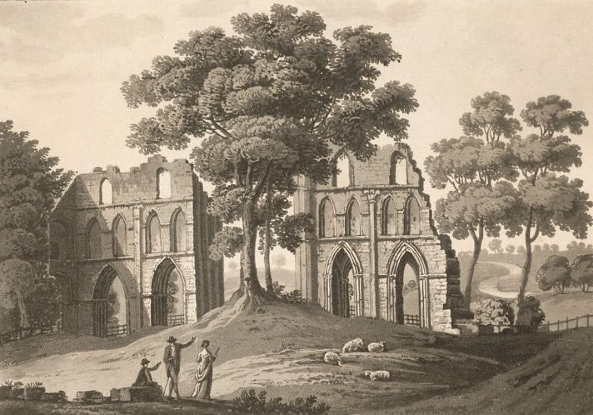 Pgds 20140919 143204 View Of Ruined Transept At Roche Abbey Yorkshire By Cartwright 1807