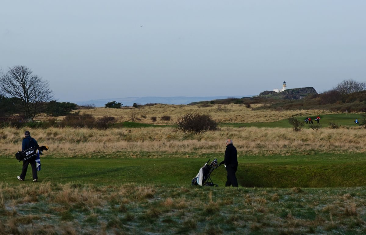 Pgds 20150211 234219 14 View Of The Golf Links Fidra Lighthouse And Fife Coast Beyond
