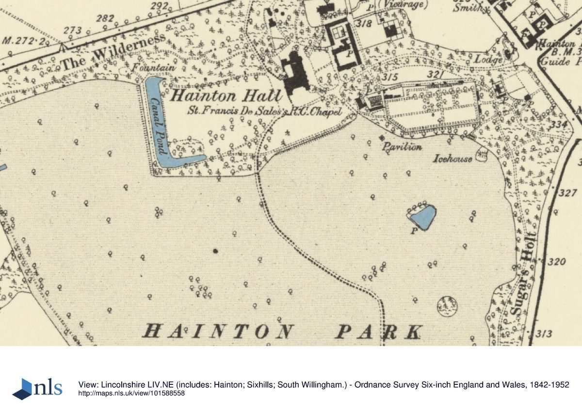 Map Of England Lincolnshire.Hainton Hall Parks Gardens